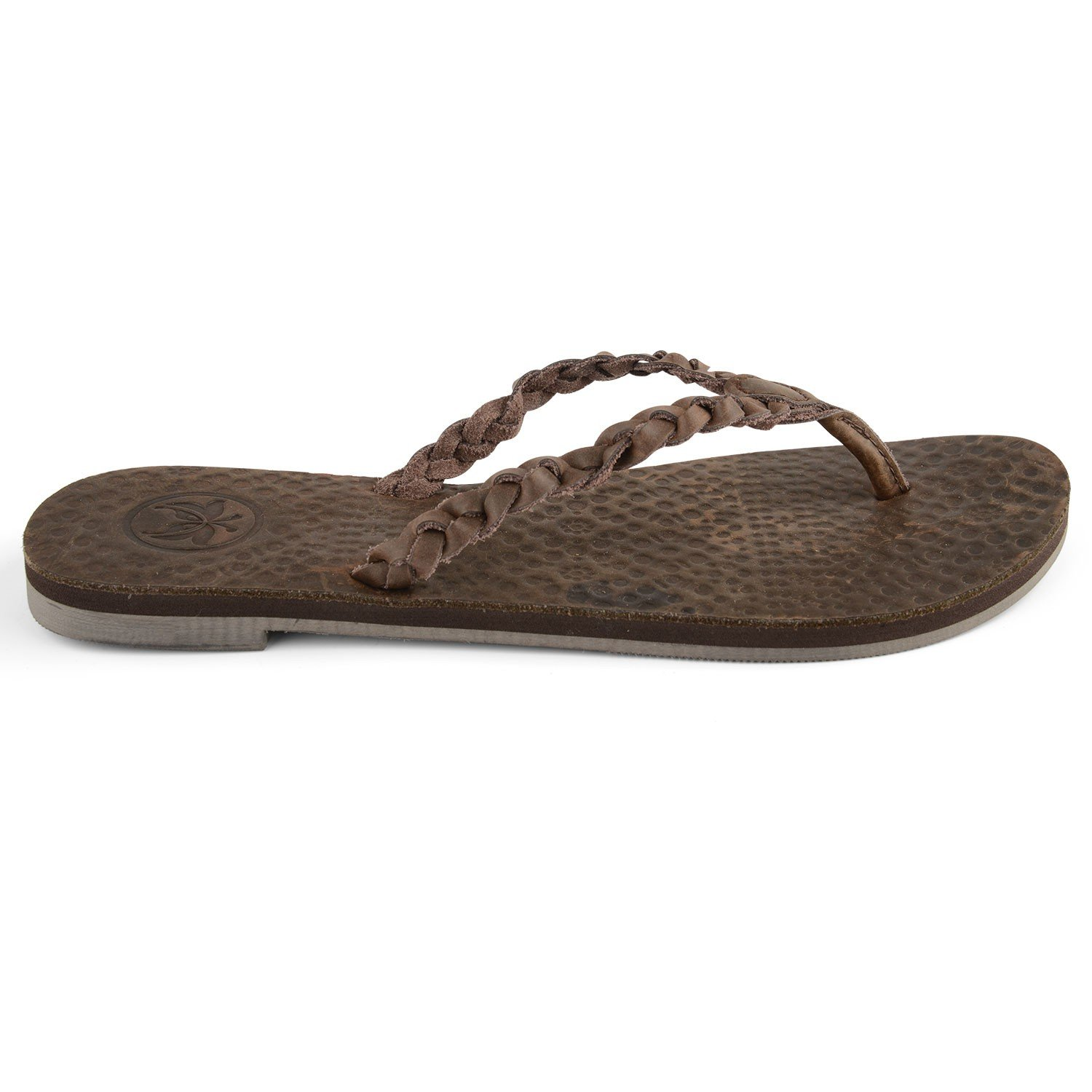 5f2e10820f8d0 Womens Brown Leather Flip Flops Jungle- Free Delivery Over £20 ...