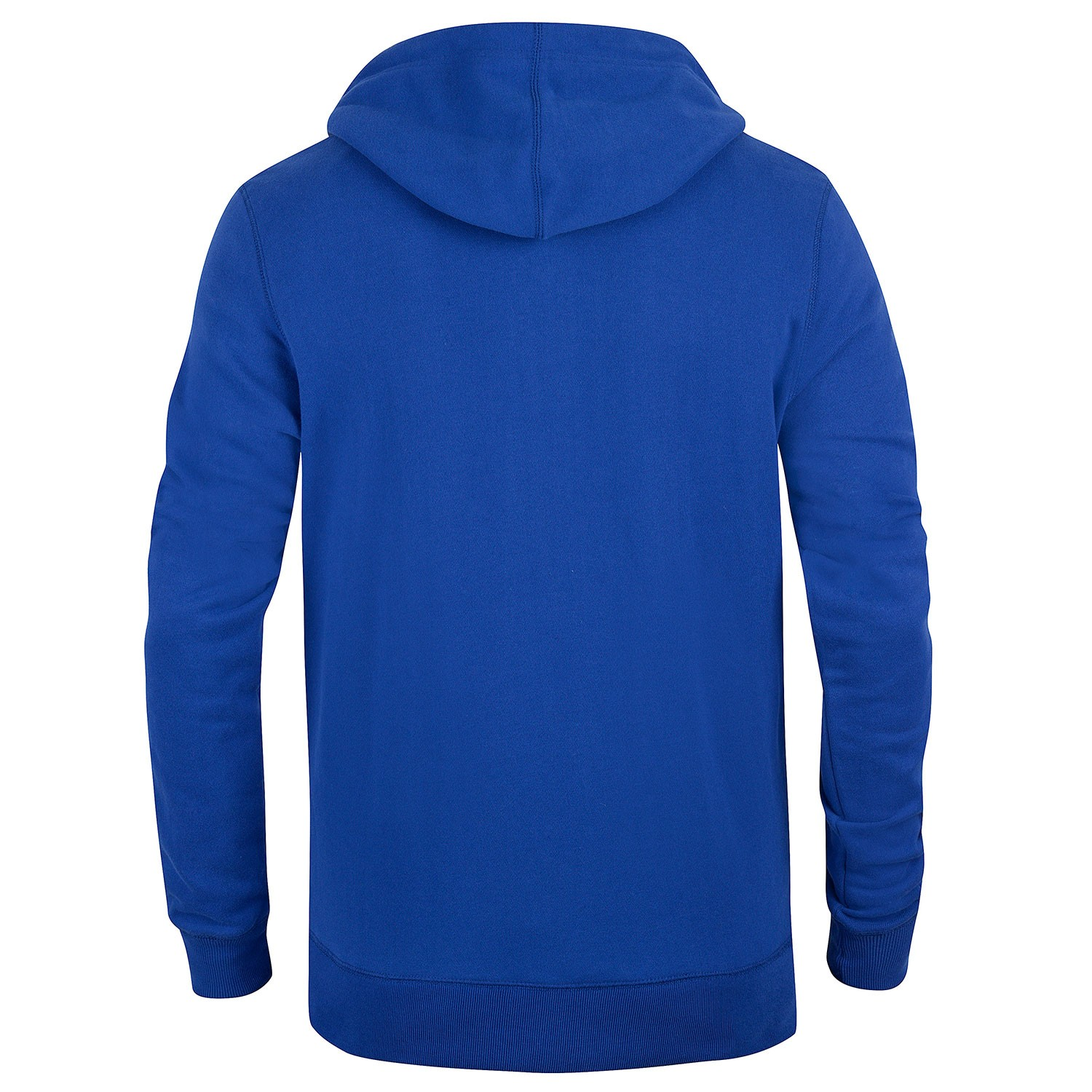 Mens Plain Blue Full Zip Hoodie Turner- Free Delivery Over ...