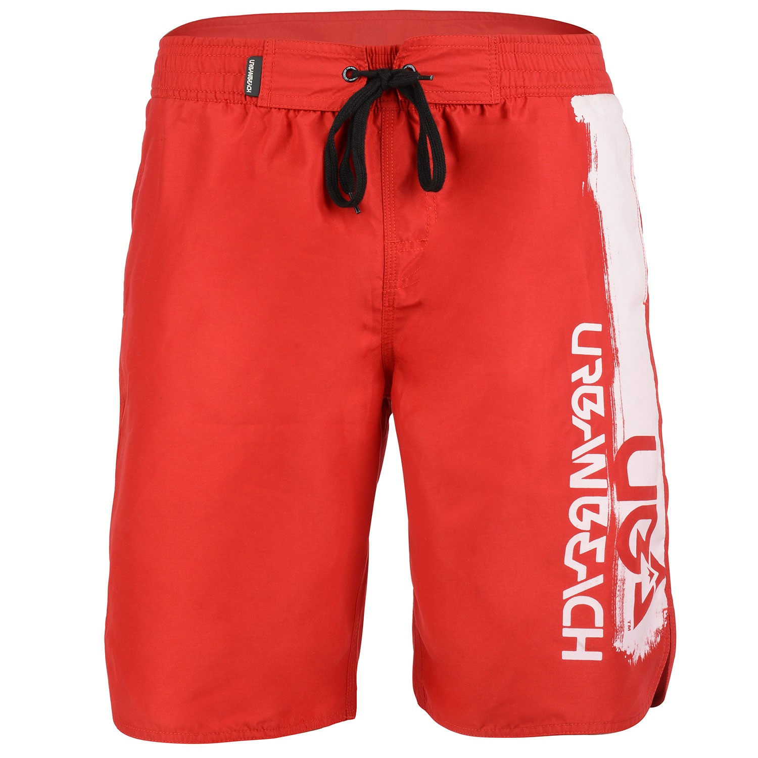 Mens Red Board Shorts With White Logo Hossegor Free