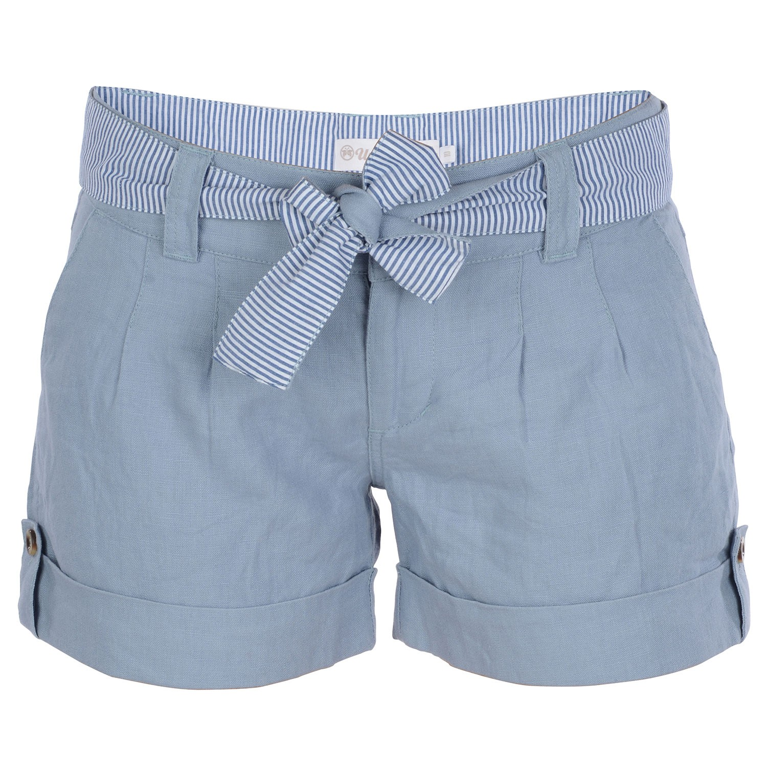 Womens Linen Grey Shorts Palm Bay- Free Delivery Over £20