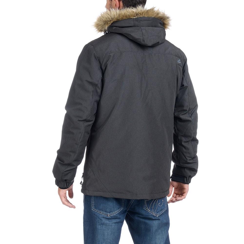 Mens Black Fur Hood Parka Jacket Varda- Free Delivery Over £20 ... 02a81a11e