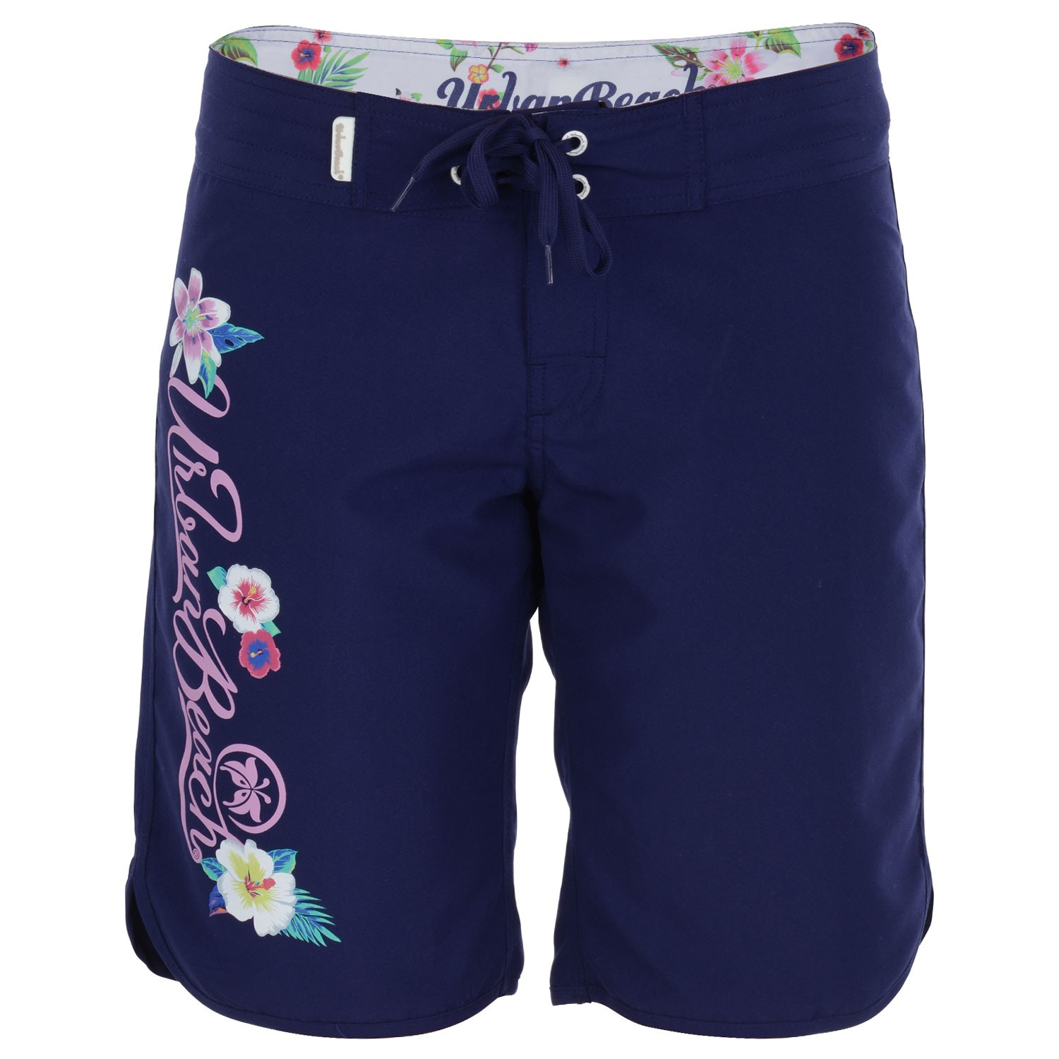 Womens Navy Long Board Shorts Wollacombe- Free Delivery Over U00a320 - Urban Beach
