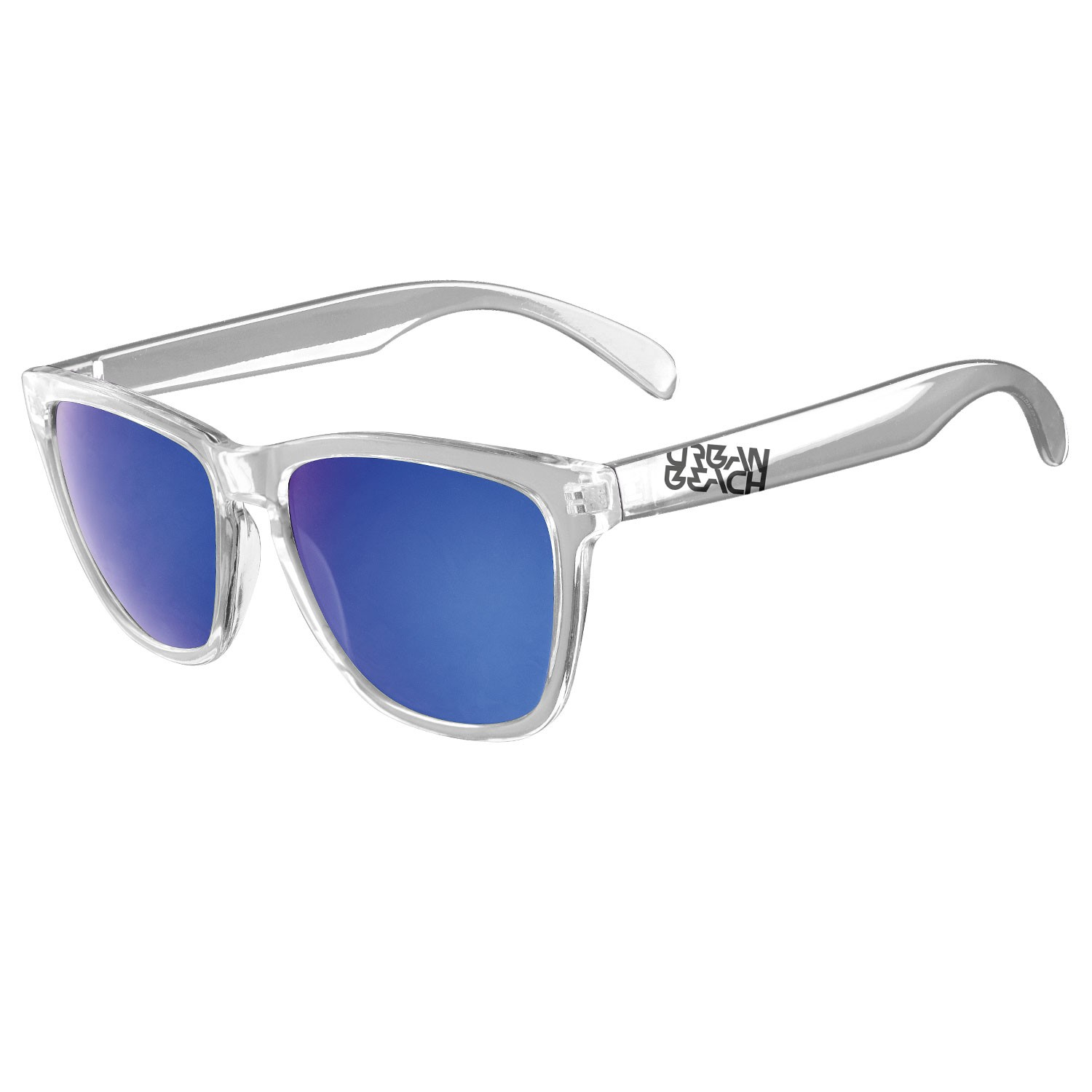 e28d4b0595 Unisex Polarised Clear Frame Sunglasses Piper- Free Delivery Over £20 -  Urban Beach