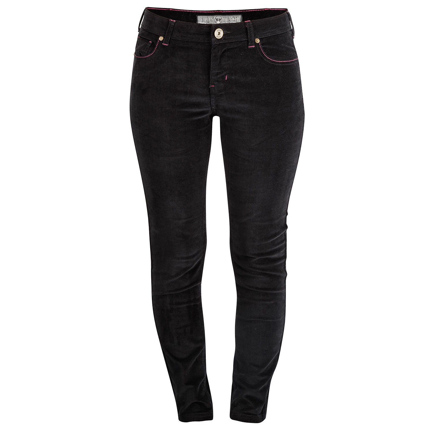 Womens Lewis Raven Black Cord Trousers