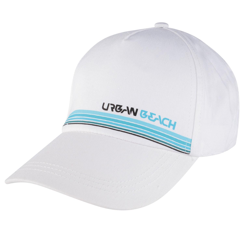 Mens White Horizon Flex-Fit Cap