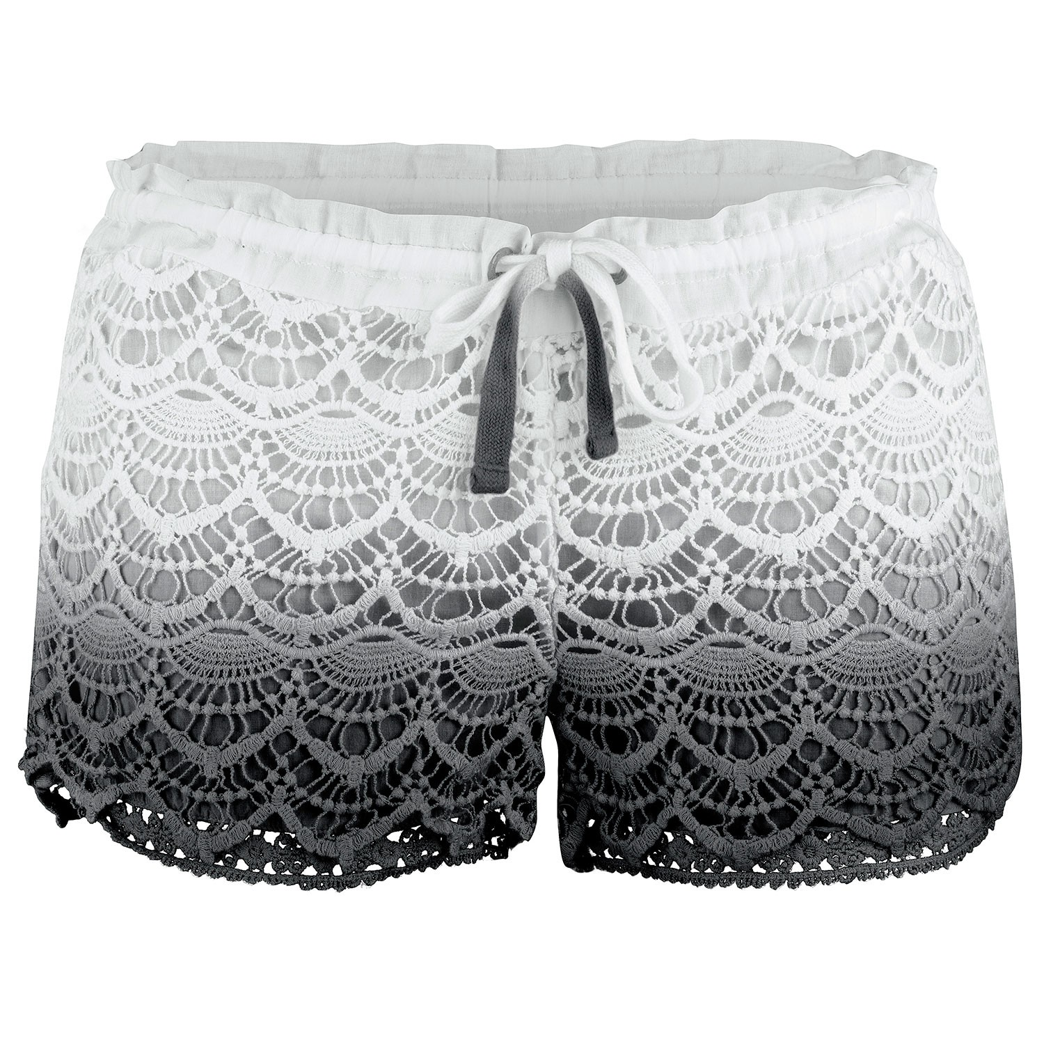 Ladies Black Avalon Deco Hot Pants