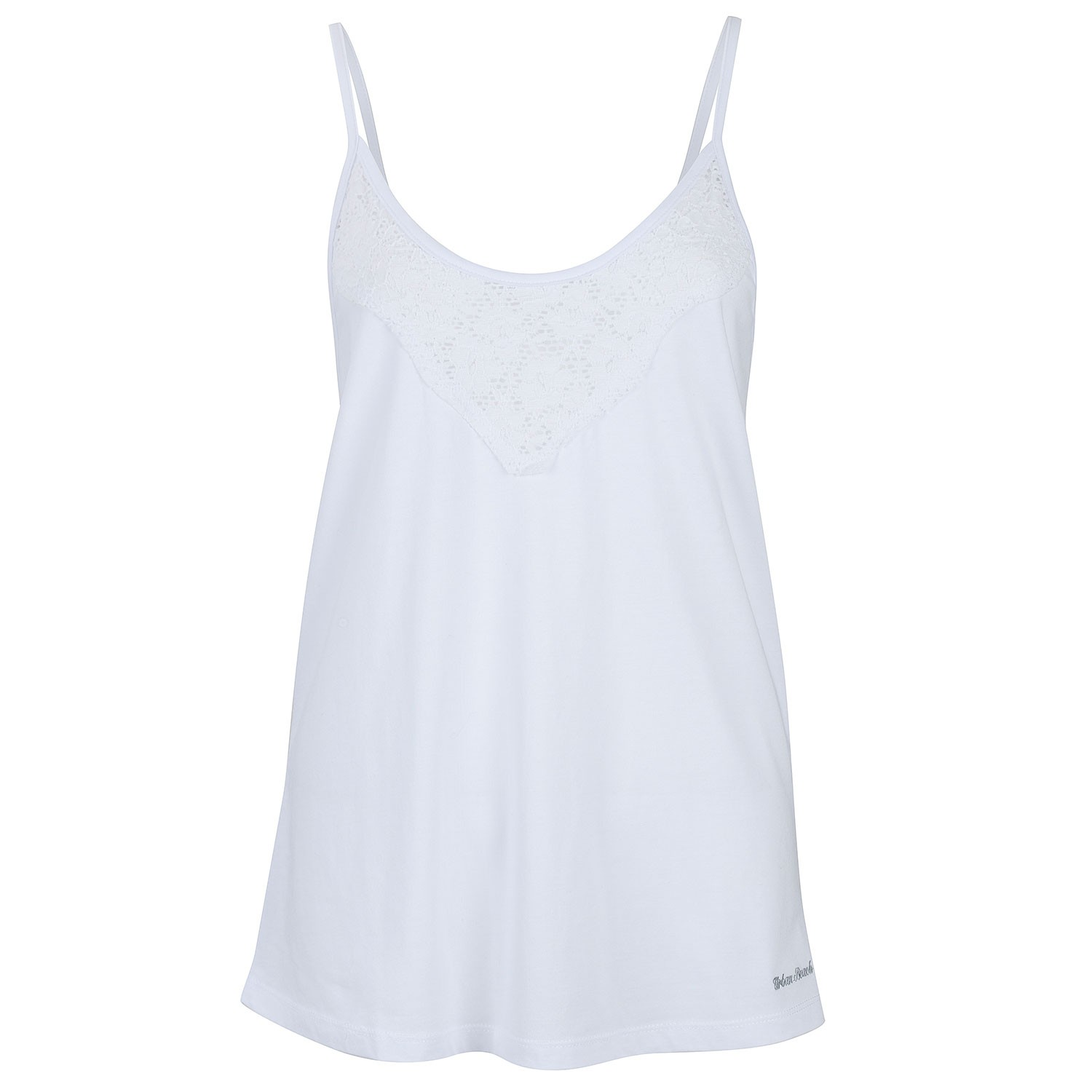 dbf325faf0 Womens White Vest Top All Laced Up- Free Delivery Over £20 - Urban Beach