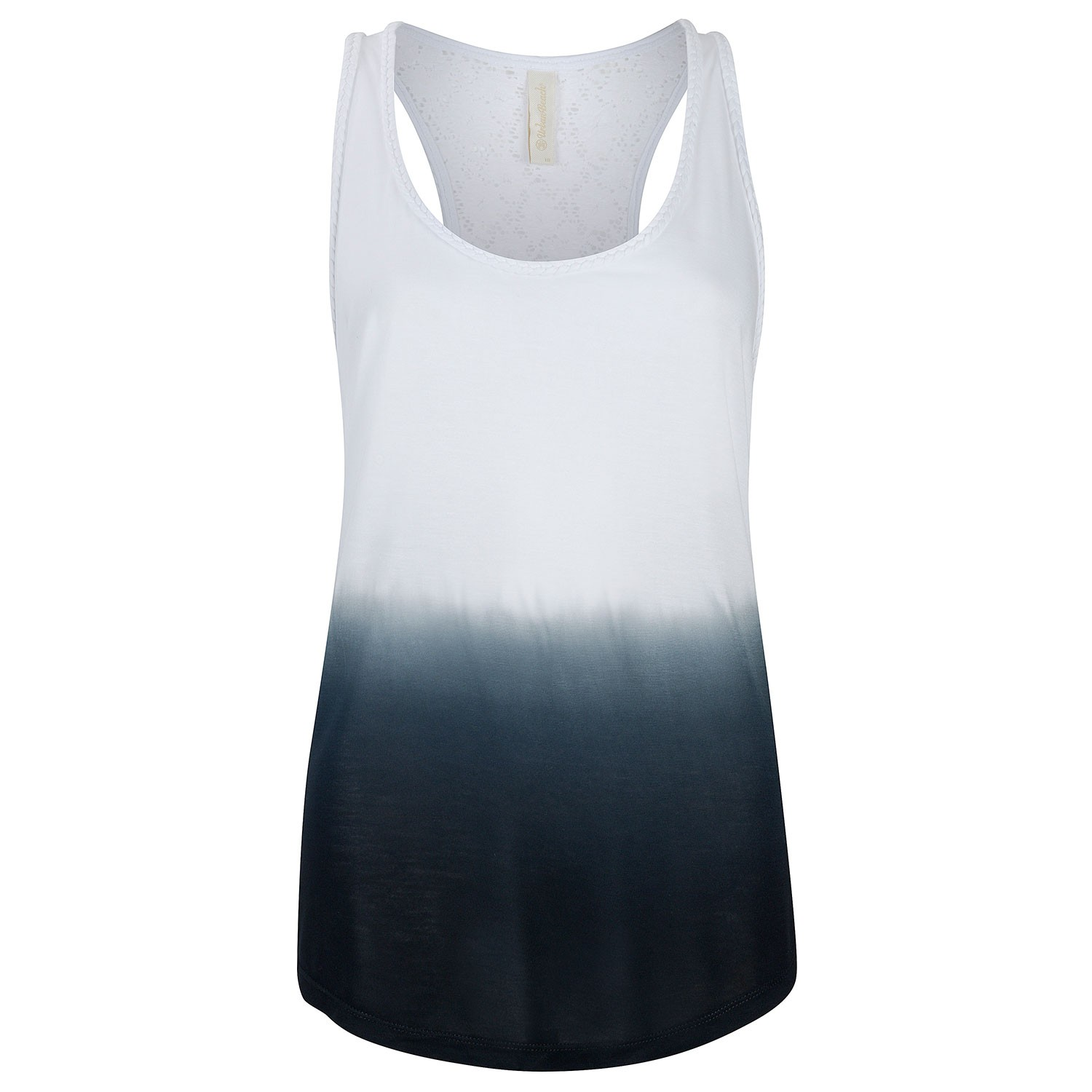 b8dd0ec681 Womens Faded Black & White Lace Vest Top Lacemaker- Free Delivery Over £20  - Urban Beach