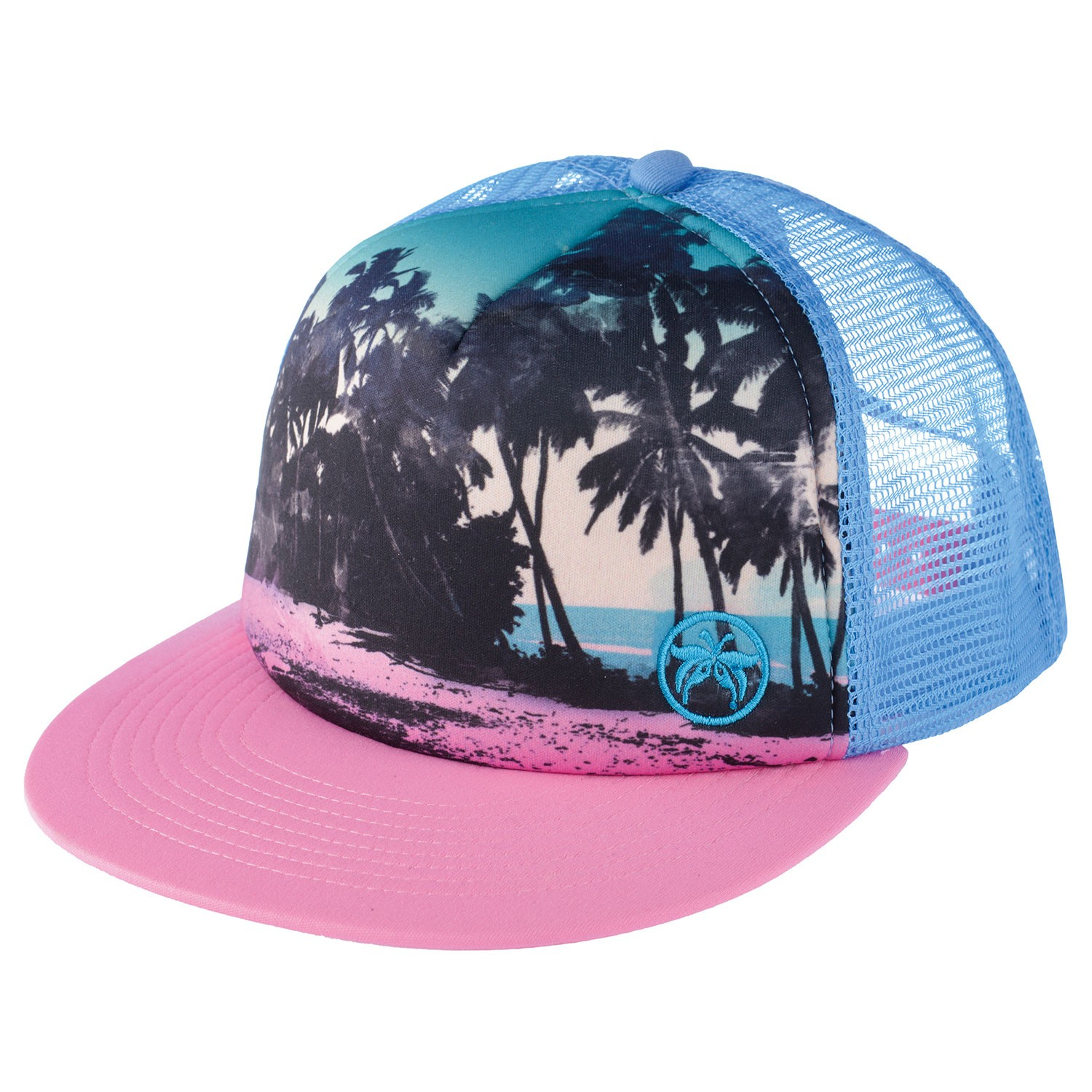 Palm Trees Snapback Trucker Hat Nikki Free Delivery Over