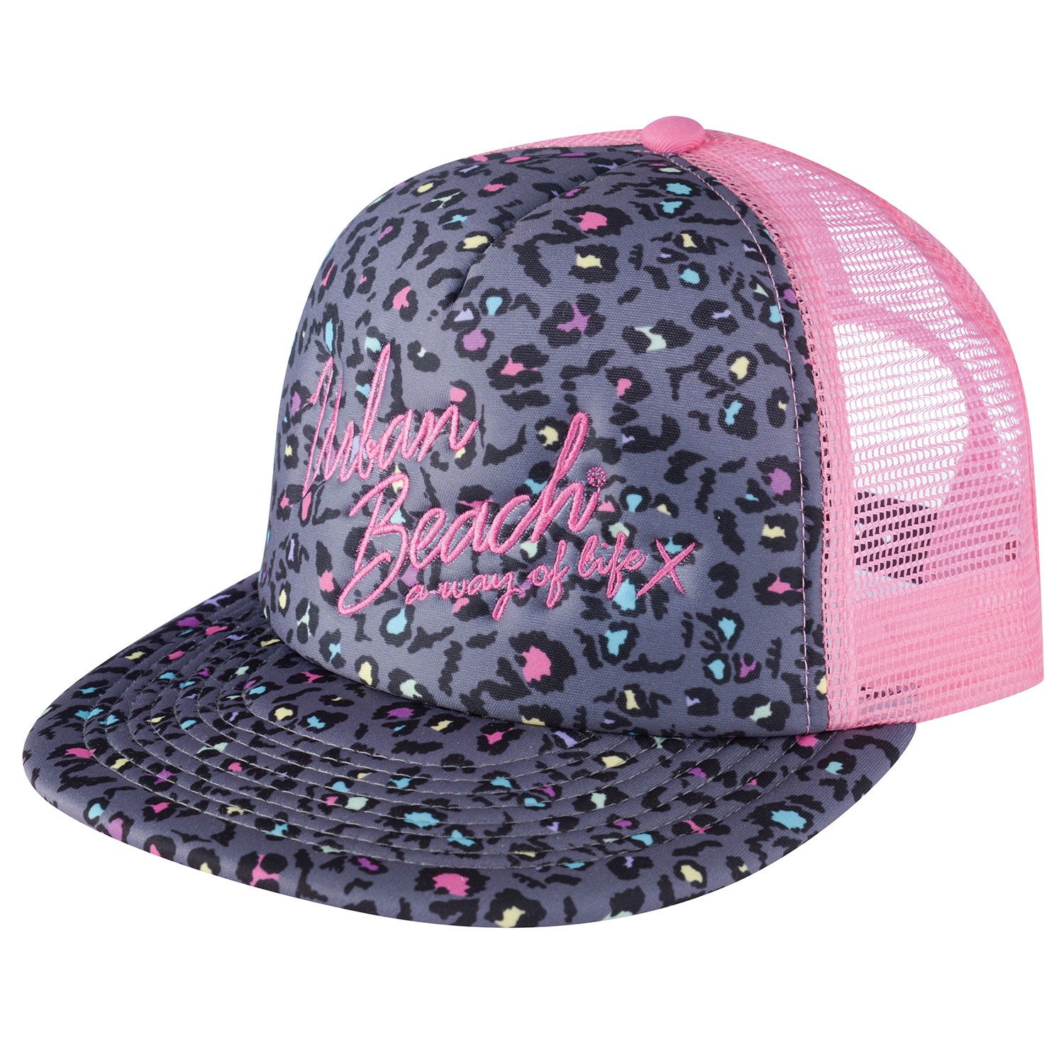 Pink South Beach Rockstar Trucker Cap