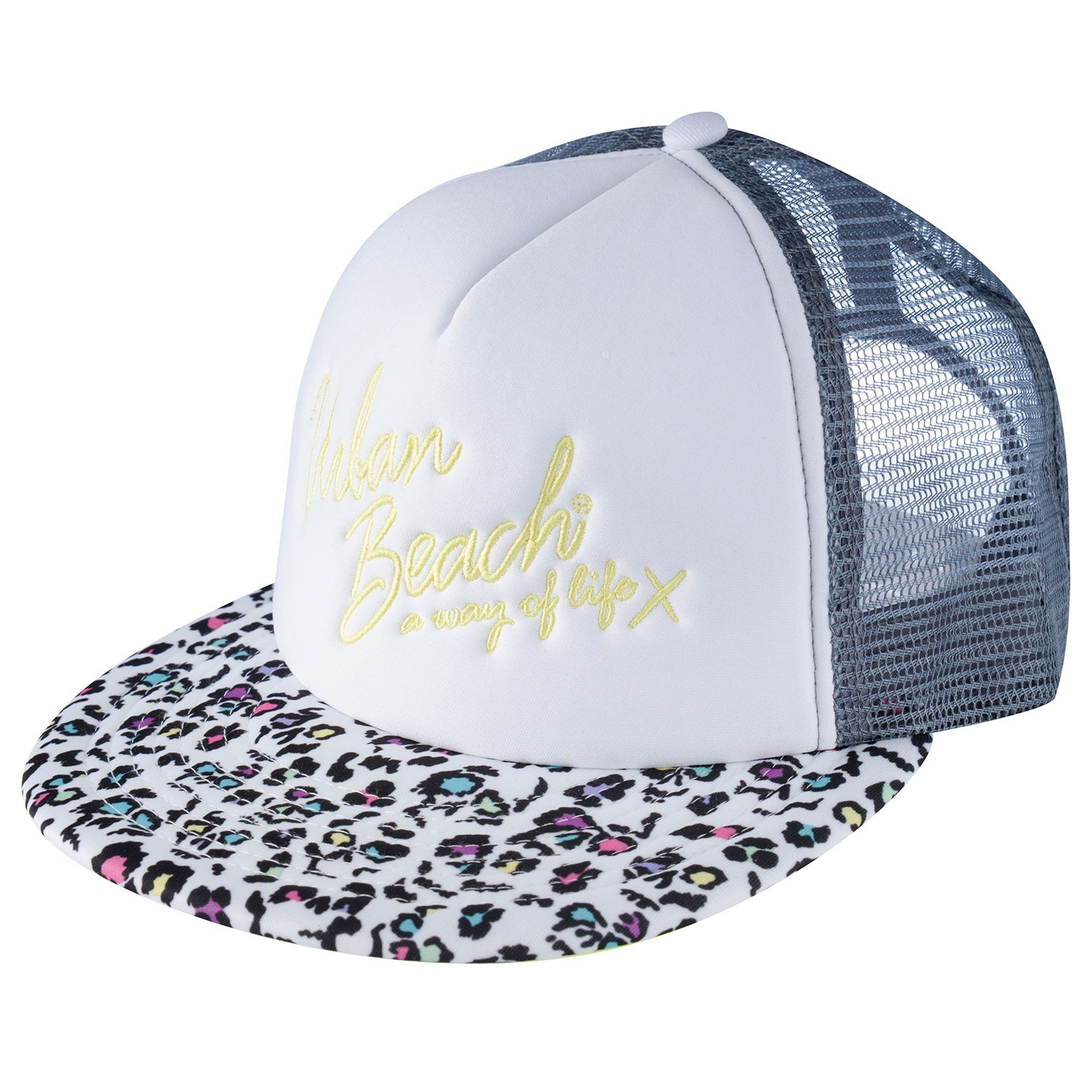 White South Beach Snapback Trucker Hat Nikki- Free Delivery Over £20 ... 26d556b9aed