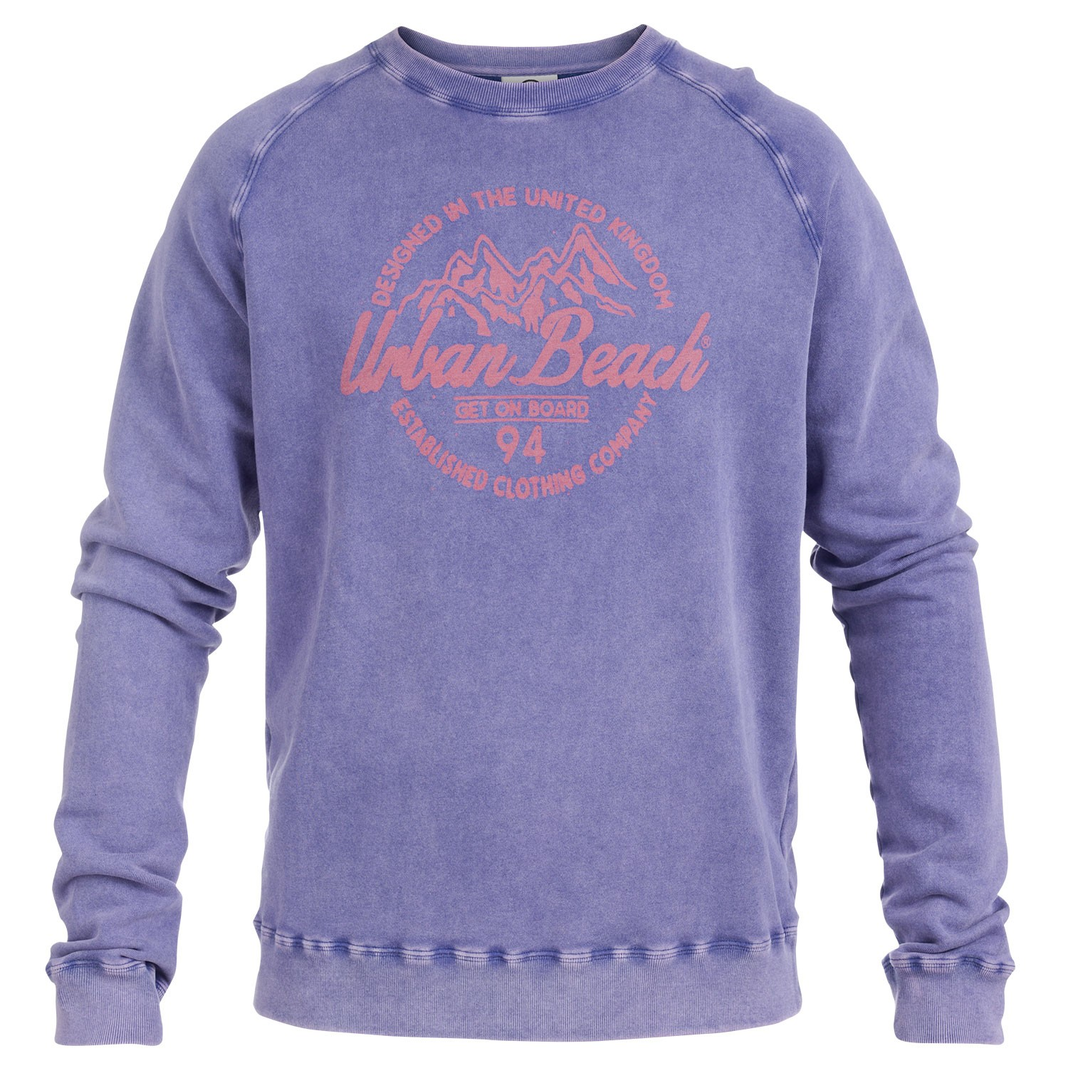 Mens Purple Sweatshirt Smith Free Delivery Over 20