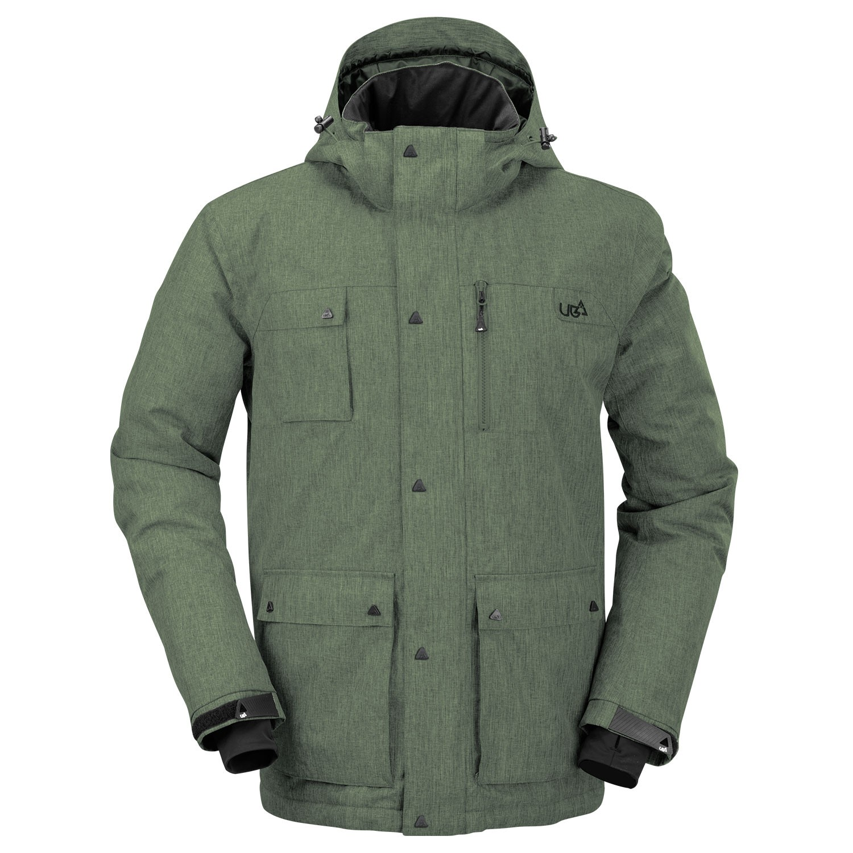mens khaki green snowboard jacket olen free delivery