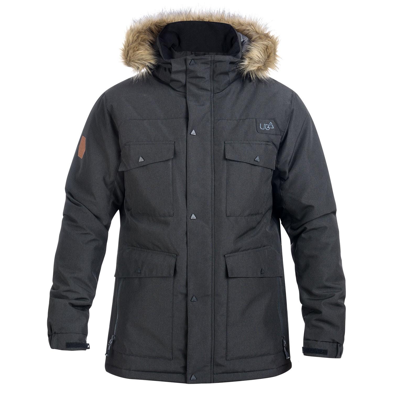 0b53e1b411a16 Mens Black Fur Hood Parka Jacket Varda- Free Delivery Over £20 - Urban Beach