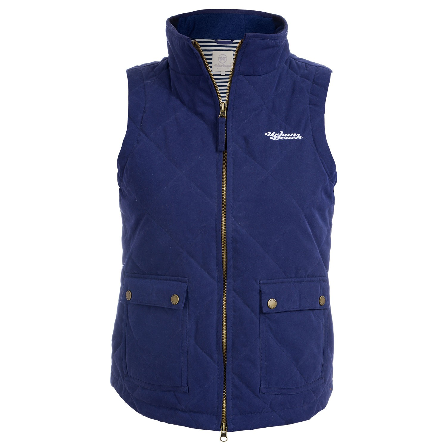Womens Navy Quilted Gilet Carlo - Free Delivery Over £20 - Urban Beach : quilted gillet - Adamdwight.com