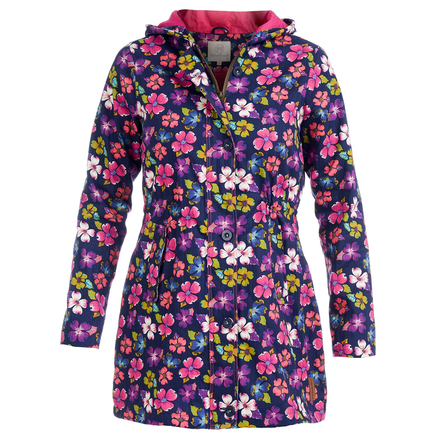 9793dcaeaac Womens Floral Rain Mac Jacket Snowdrop- Free Delivery Over £20 - Urban Beach