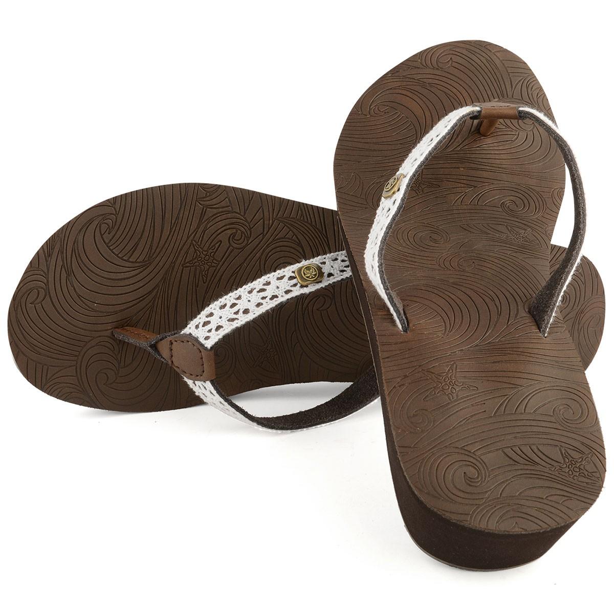 Womens Heeia Flip Flop - Brown