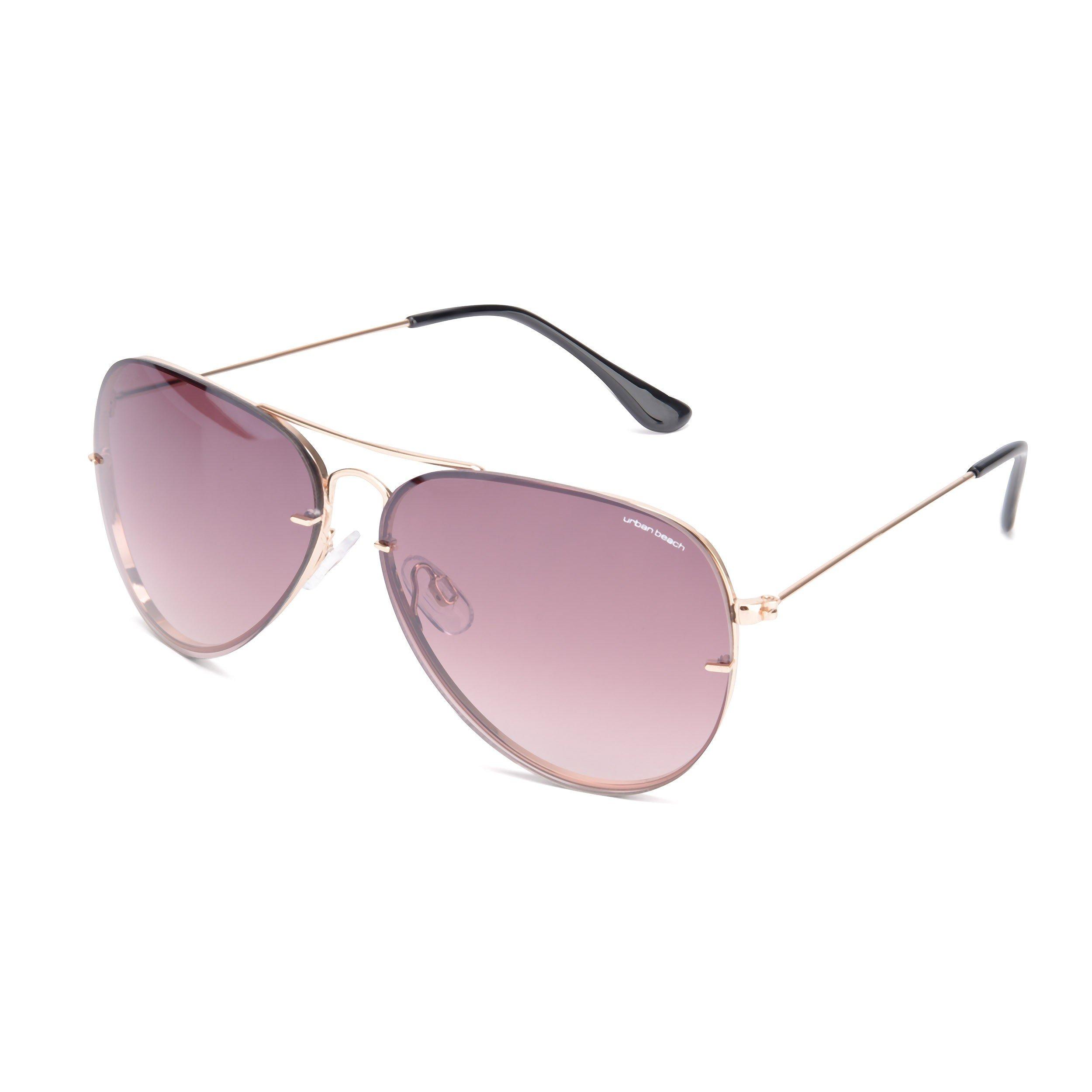 Unisex Brown Sunset Aviator Sunglasses
