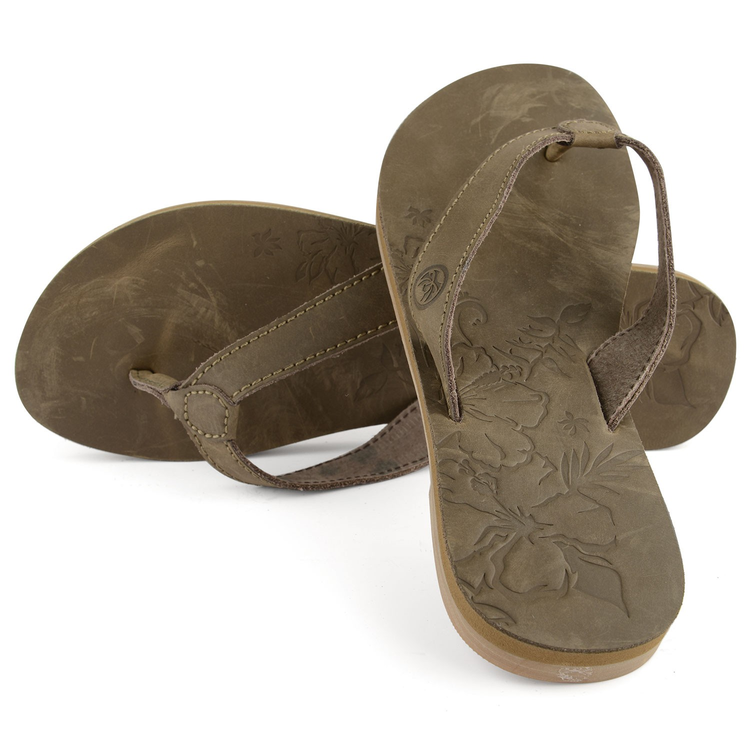 Women's Long Island Beach Brown Flip Flops
