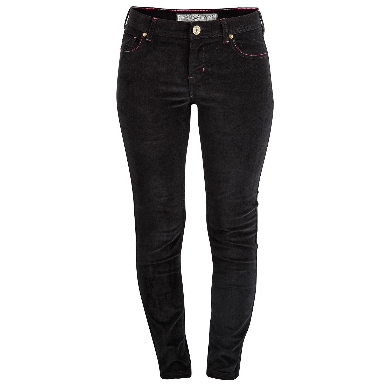 Womens Lewis Raven Black Cord Trousers
