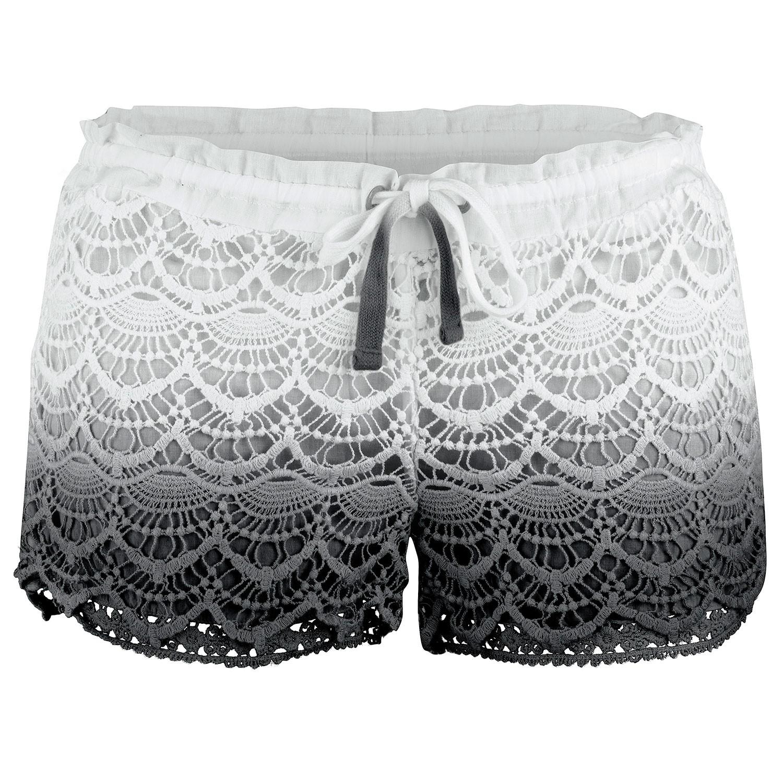 Ladies Black Avalon Deco Hot Pants