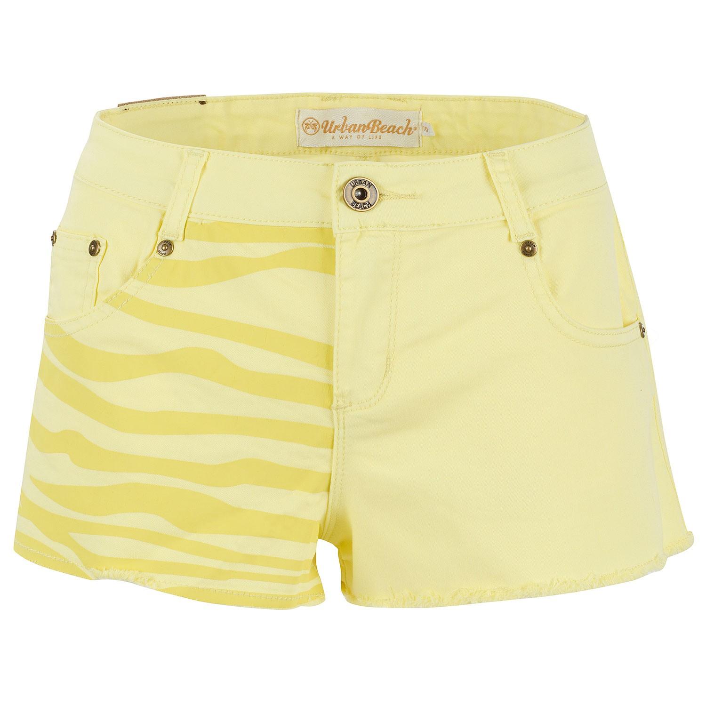 Women's Yellow Rockstar Boyfriend Shorts