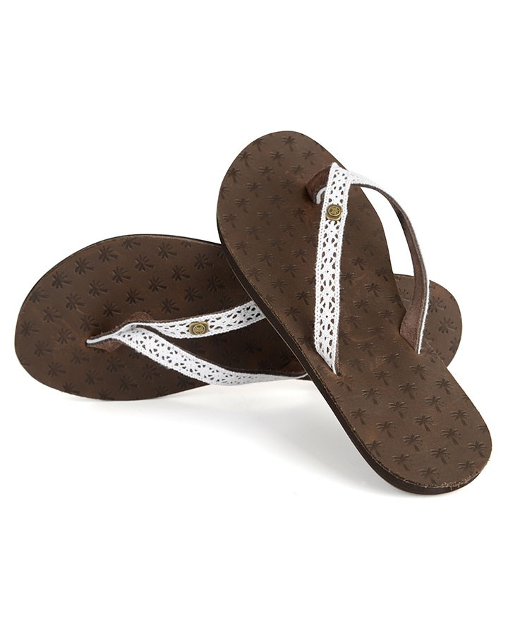 Womens Iona Leather Flipflops