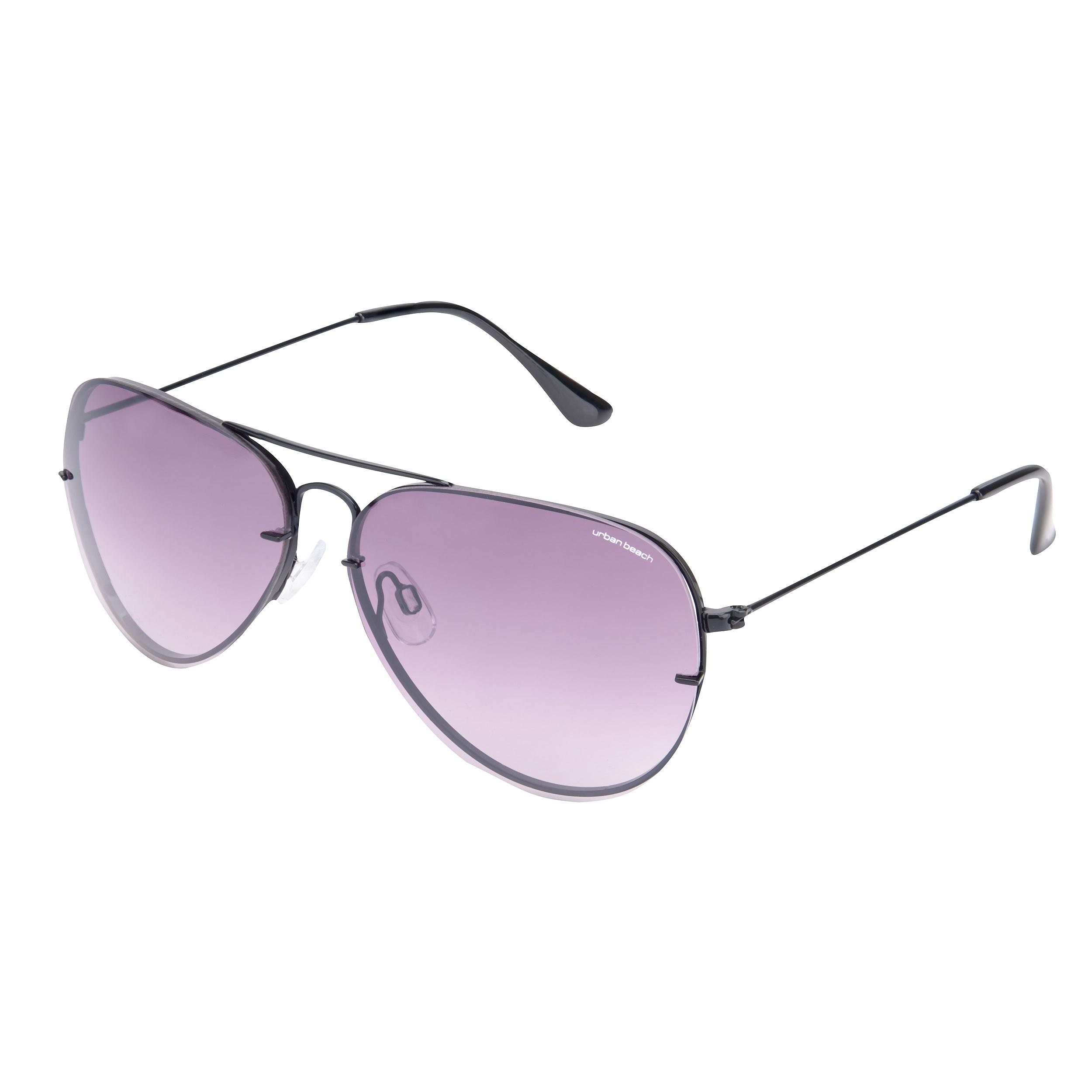 Unisex Black Sunset Aviator Sunglasses