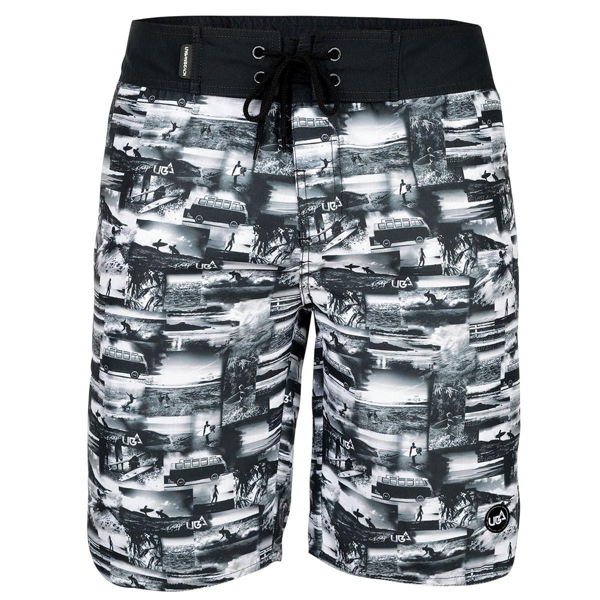Mens Jaws Board Shorts - Black