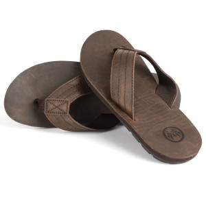 Mens Monte Brown Flip Flop