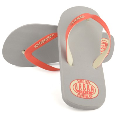 Mens Grey Amoco Flip Flops