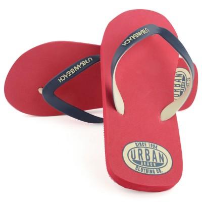 Mens Red Amoco Flip Flops
