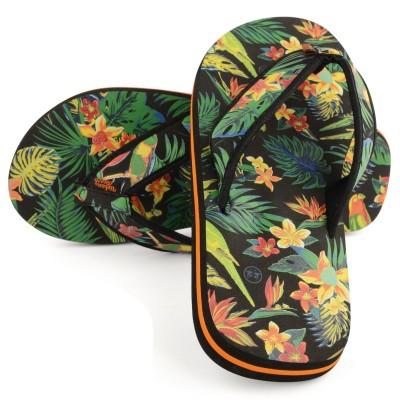 Womens Black Wild Beach Flip Flops