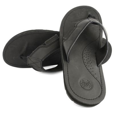 Mens Harmon Black Flip Flops