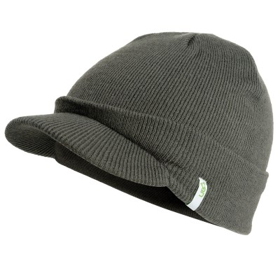 Traverse Charcoal Knitted Peak Beanie Hat