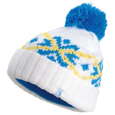 Bobble White Knitted Beanie Hat