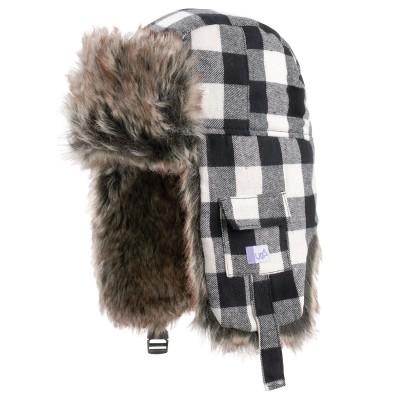 Gruff Black Check Deerstalker Hat