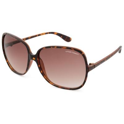 Womens Hollywood Round Frame Sunglasses Tortoiseshell
