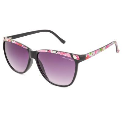 Womens Flourish Retro Sunglasses Black