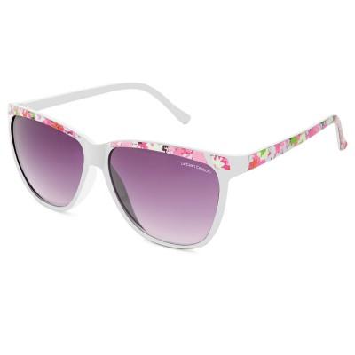 Womens Flourish Retro Sunglasses White