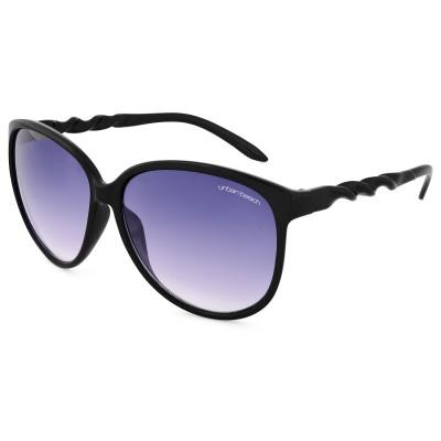 Womens Twist Round Frame Sunglasses Black