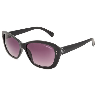 Womens Sleek Cat Eye Sunglasses Black