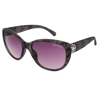 Womens Tabloid Cat Eye Sunglasses Slate