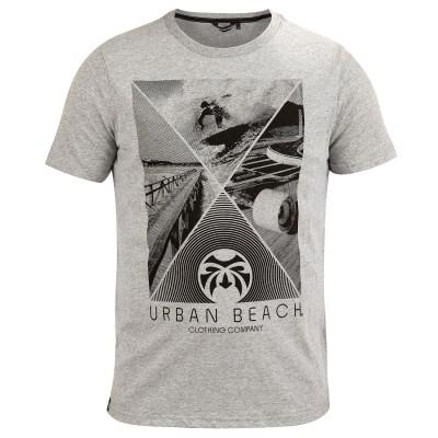 Mens Crossroads T-Shirt Grey Marl