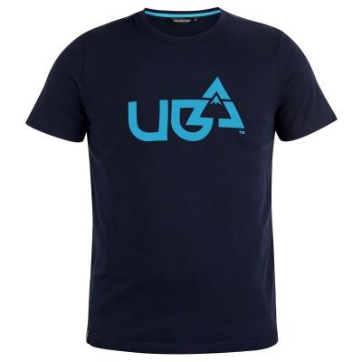 Mens Mountain Crest T-Shirt Blue