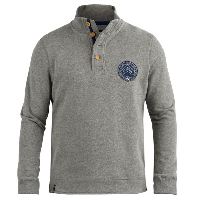 Mens Mariner Funnel Neck Sweat Grey
