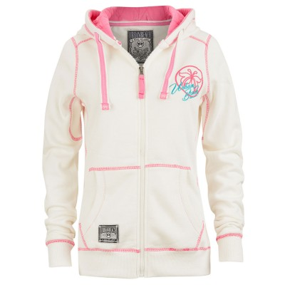 Womens Spray Full Zip Hoodie White