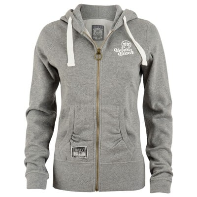Womens Track Full Zip Hoodie Grey