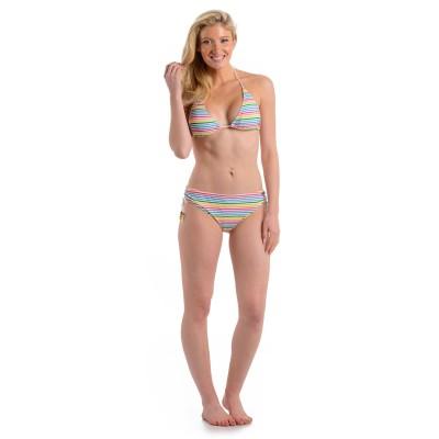 Womens Stripe Bikini White
