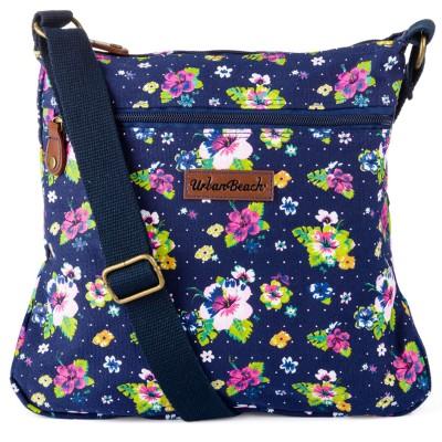 Womens Bloom Pouch Bag Dark Blue